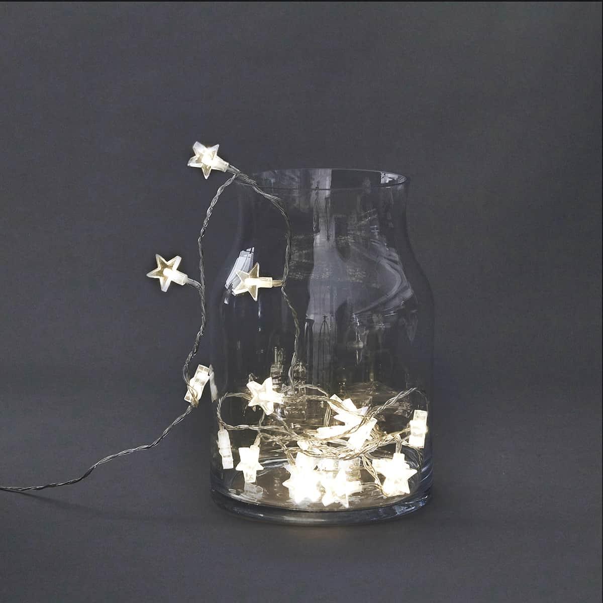 Světelný řetěz hvězdy