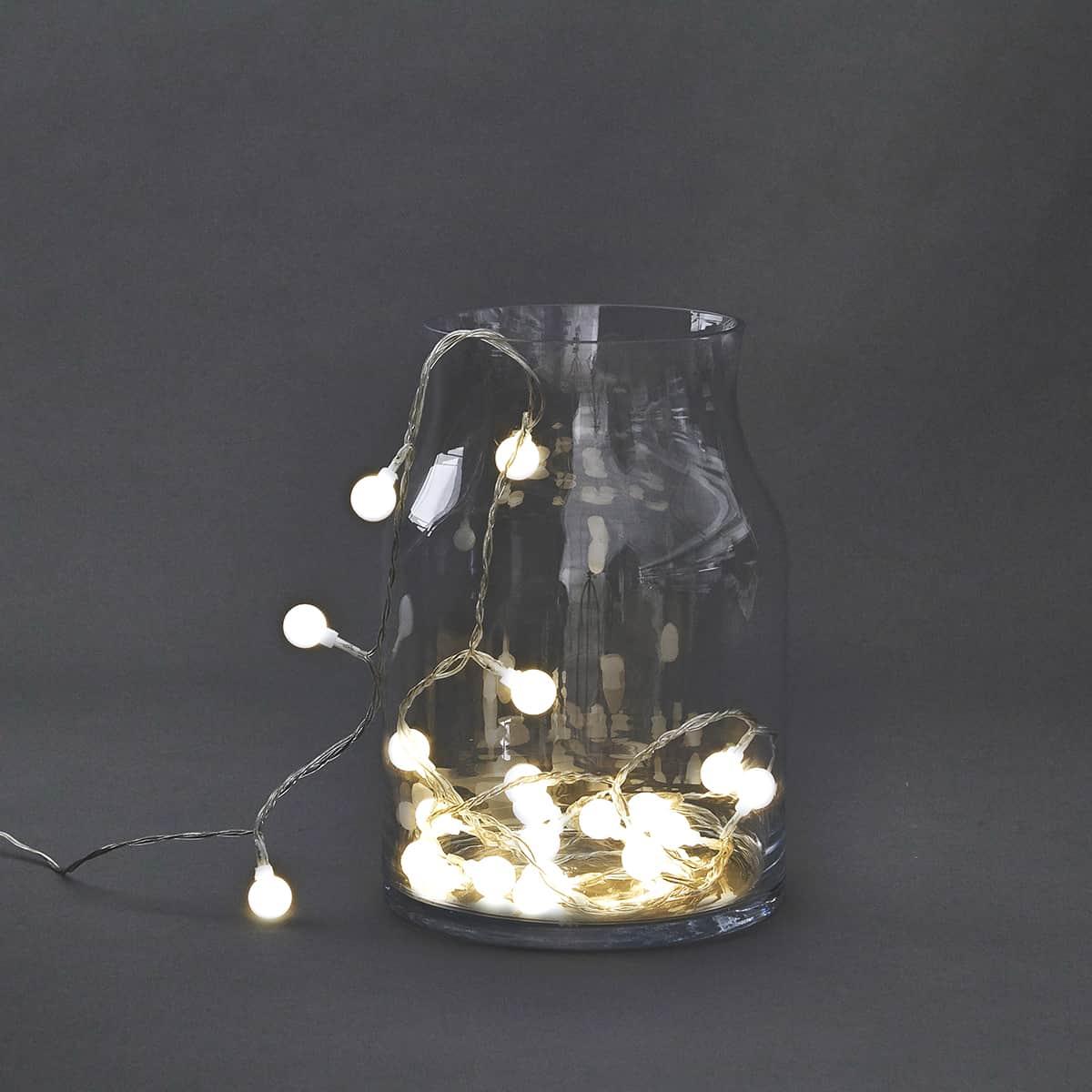 House Doctor Světelný řetěz kuličky, 30 LED
