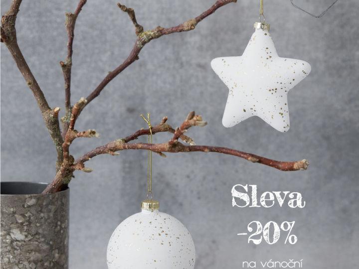 SLEVA 20% na vánoční ozdoby, dekorace a světelné řetězy