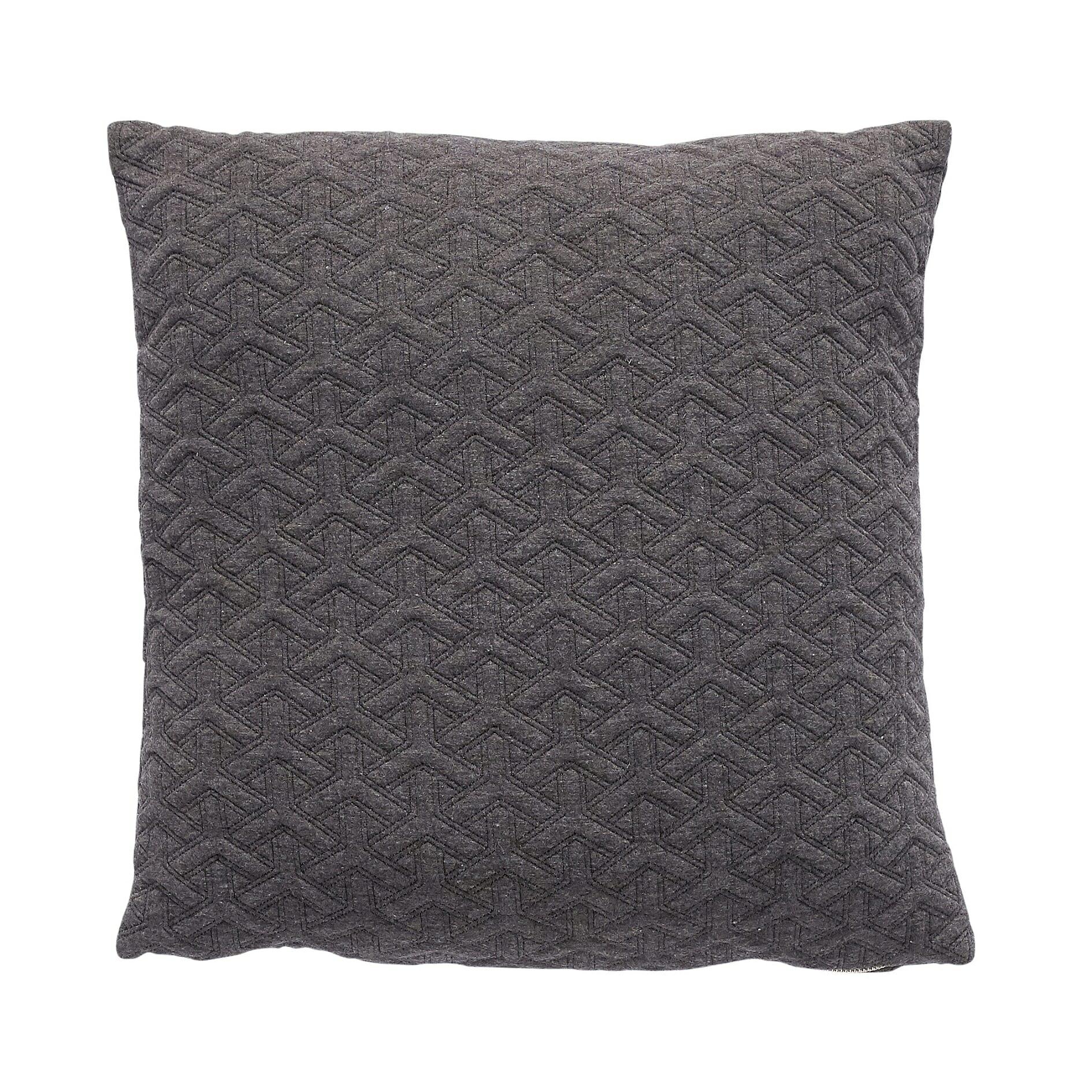 Tmavě šedý polštář se vzorem