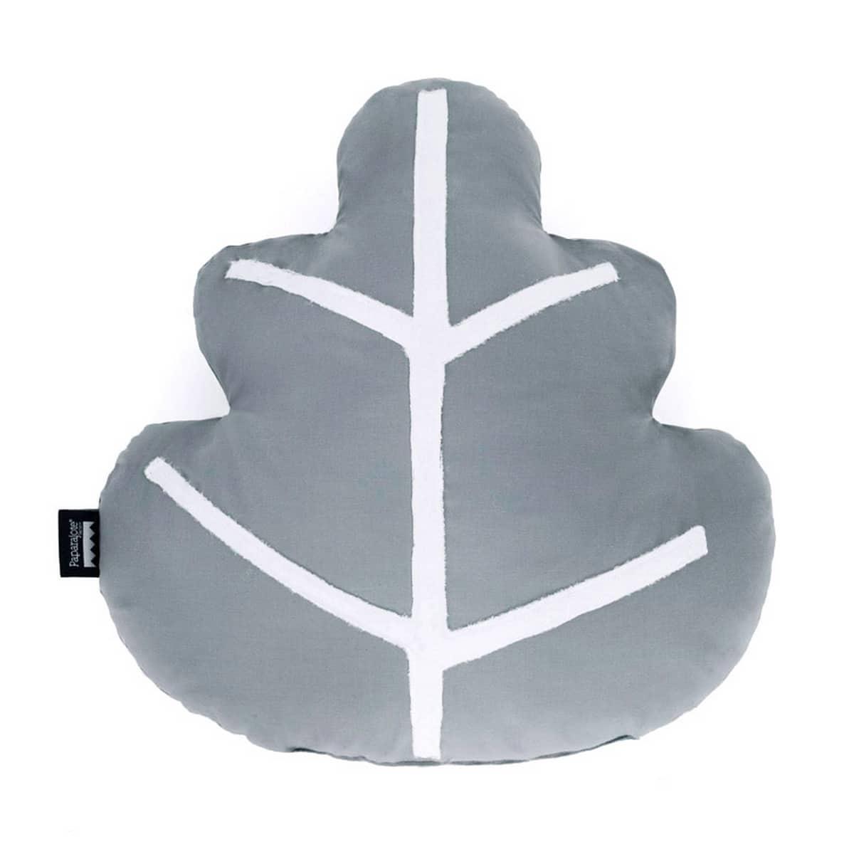 Polštář Lístek 40cm - šedý