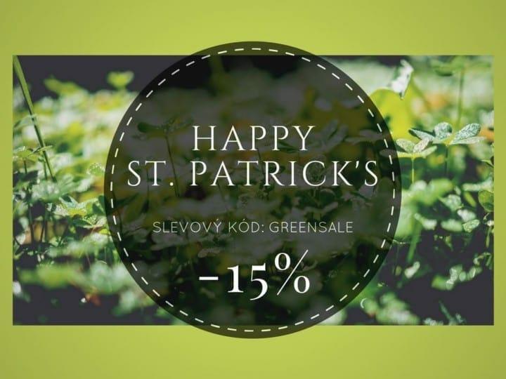 Den svatého Patrika – 15% sleva