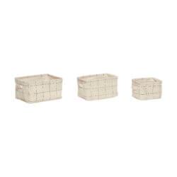 Textilní košík Square - set 3 ks