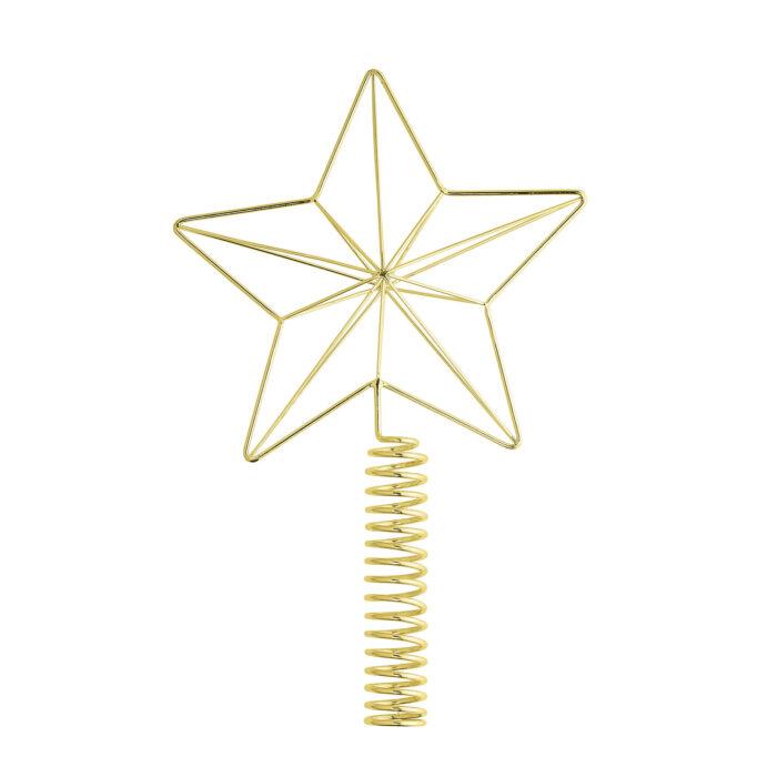 Zlatá vánoční hvězda - špička na stromek