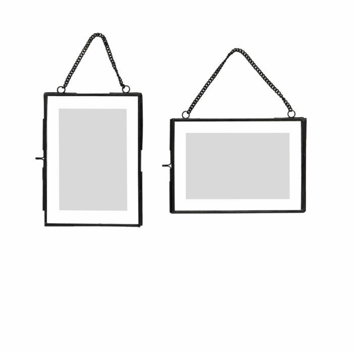 Kovový rámeček s řetízkem - 2 ks