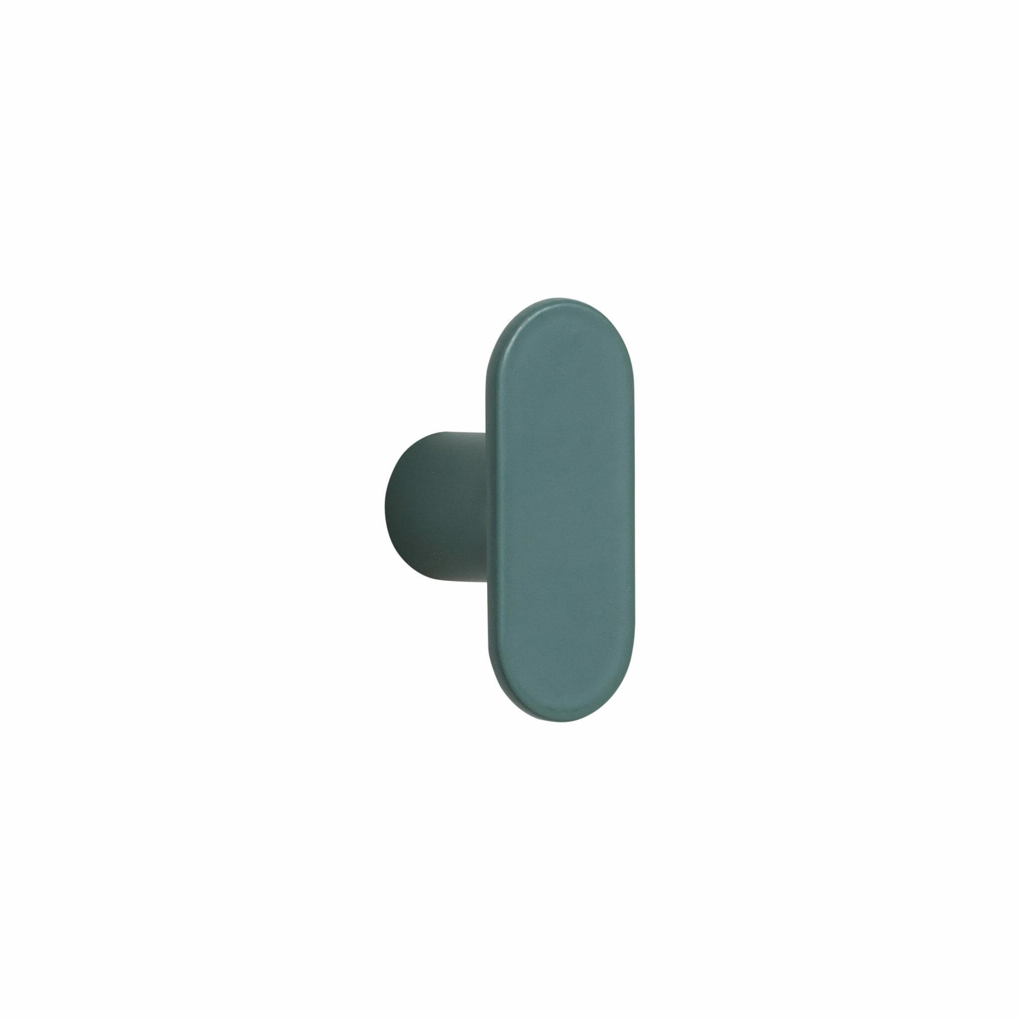 Zelený kovový věšák Knob