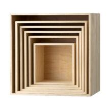 Dřevěné police Box, sada 6 ks