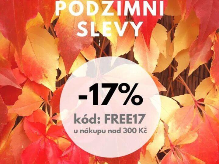 Podzimní slevy -17%