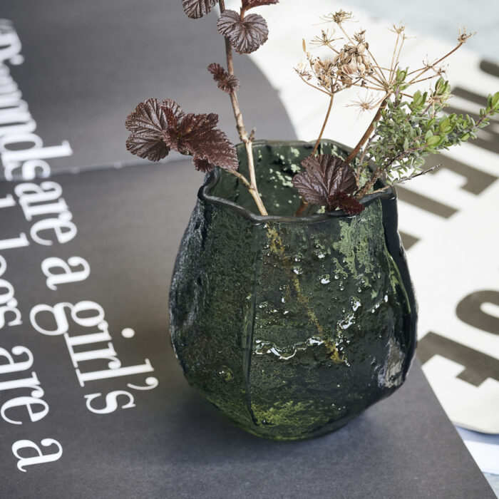 Skleněná váza Melt
